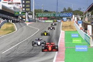 Sebastian Vettel, Ferrari SF1000, leads Daniil Kvyat, AlphaTauri AT01, Daniel Ricciardo, Renault F1 Team R.S.20, and Kevin Magnussen, Haas VF-20