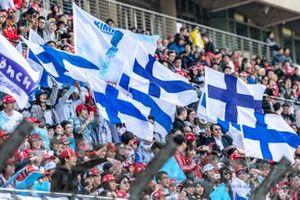 Fans on grandstand