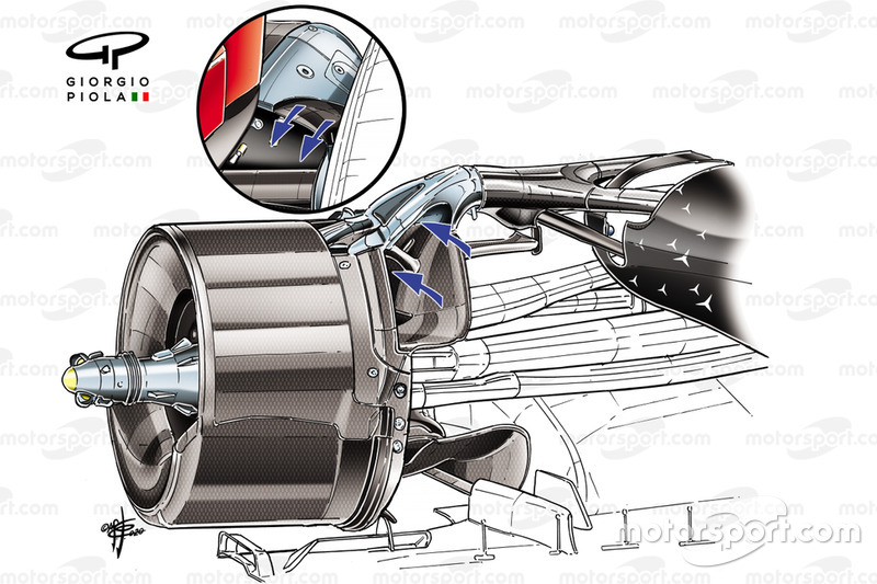 Dettaglio del Brake Duct Mercedes AMG F1 W11
