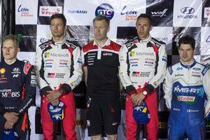 Podium: Winner Sébastien Ogier, Julien Ingrassia, Toyota Gazoo Racing WRT Toyota Yaris WRC