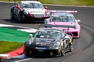 Florian Latorre, CLRT, leads Jaxon Evans, BWT Lechner Racing, and Leon Kohler, Lechner Racing Middle East