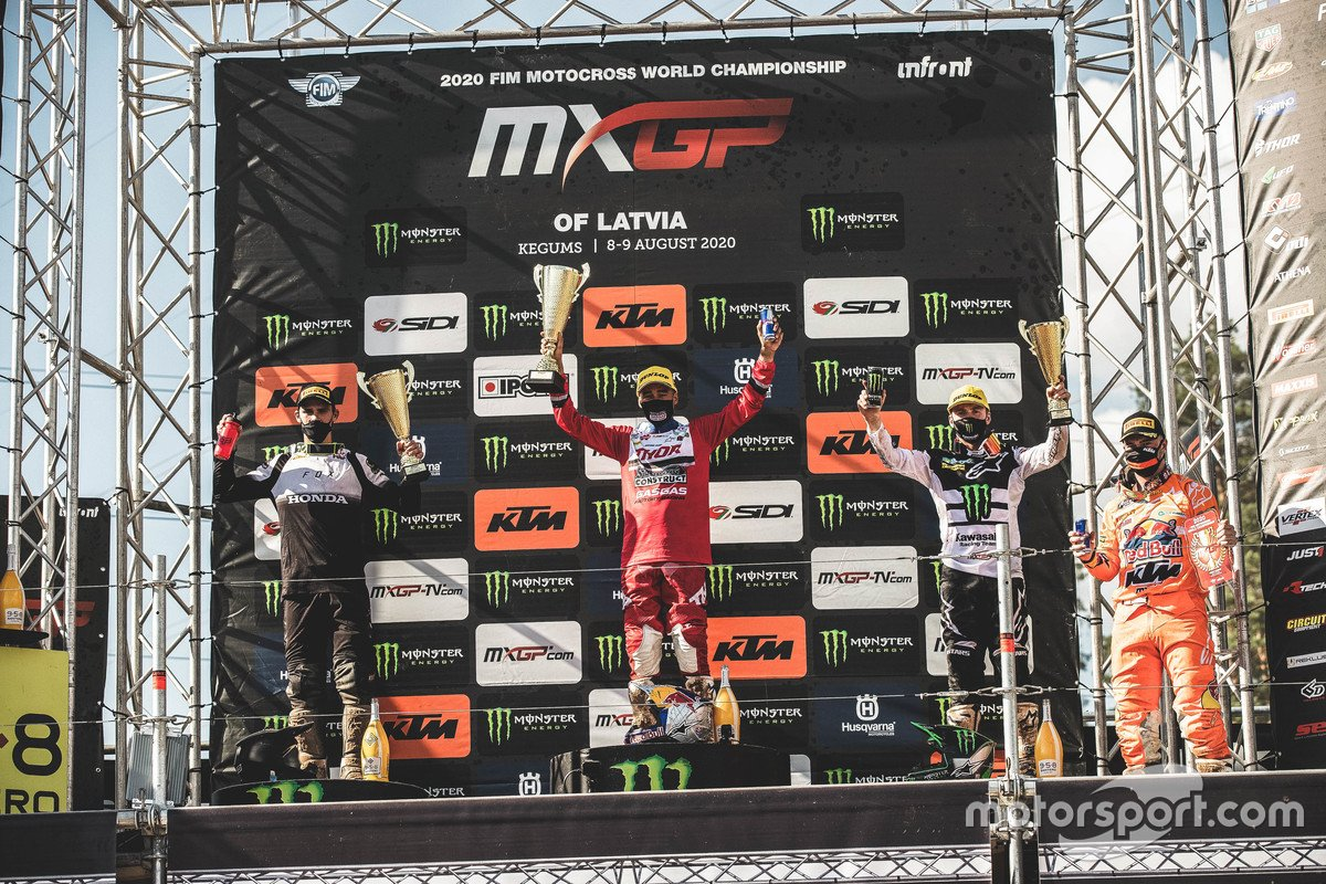 Glenn Coldenhoff, Standing Construct GasGas Factory Racing, Tim Gajser, Team HRC, Romain Febvre, Monster Energy Kawasaki Racing Team y Jeffrey Herlings, Red Bull KTM Factory Racing
