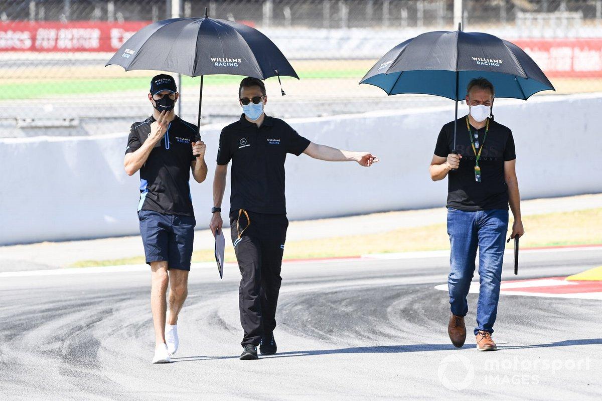 Николя Латифи, Williams Racing, прогулка по трассе