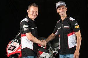 Marco Melandri, Barni Racing Team, et Marco Barnabo, Team Principal