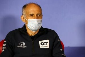Franz Tost, Team Principal, AlphaTauri in the press conference
