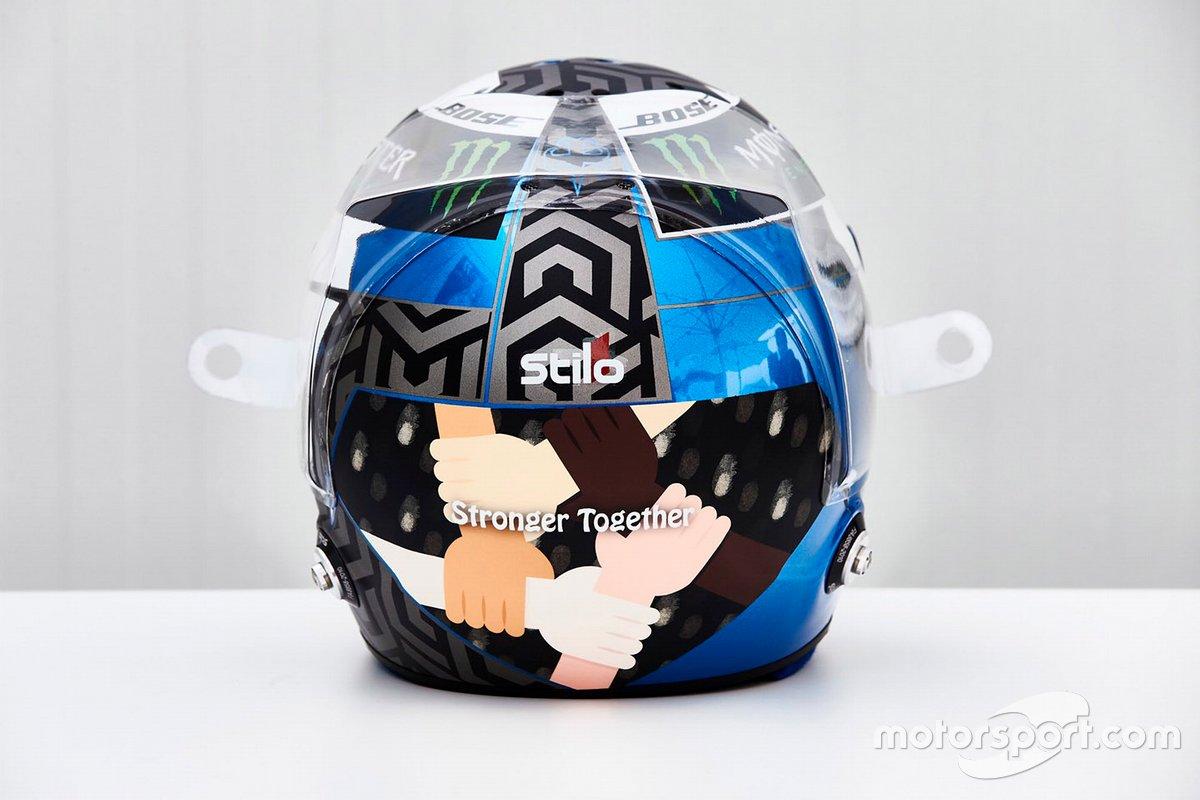 Il casco di Valtteri Bottas, Mercedes