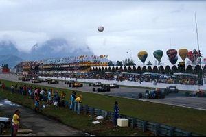 Start zum GP Brasilien 1988 in Rio de Janeiro
