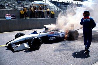Olivier Grouillard, Tyrrell, victime d'un problème de boîte de vitesses