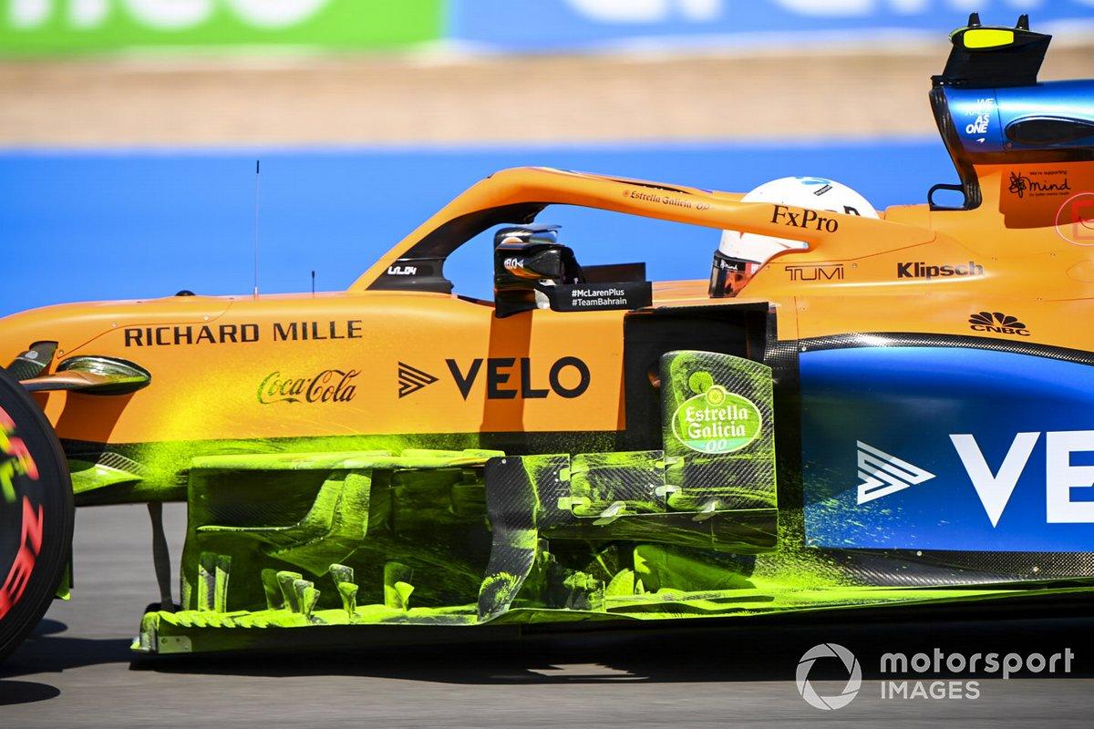 Аэродинамическая краска на McLaren MCL35 Ландо Норриса