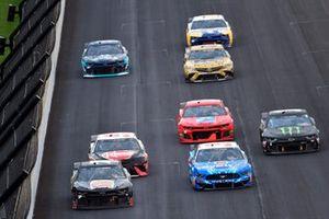 Josh Bilicki, Tommy Baldwin Racing, Chevrolet Camaro and Michael McDowell, Front Row Motorsports, Ford Mustang carparts.com and Kurt Busch, Chip Ganassi Racing, Chevrolet Camaro Monster Energy