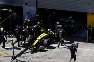 Daniel Ricciardo, Renault F1 Team R.S.20 si ritira dalla gara