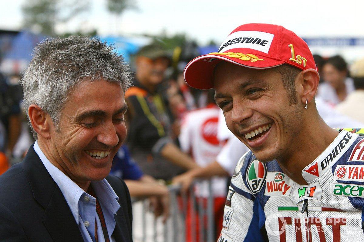 Valentino Rossi, Yamaha, mit Mick Doohan