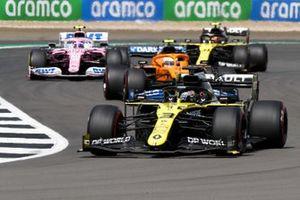 Daniel Ricciardo, Renault F1 Team R.S.20, Lando Norris, McLaren MCL35, Lance Stroll, Racing Point RP20 and Esteban Ocon, Renault F1 Team R.S.20