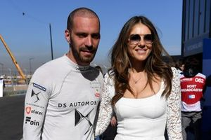 Jean-Eric Vergne, DS TECHEETAH, with actress Elizabeth Hurley