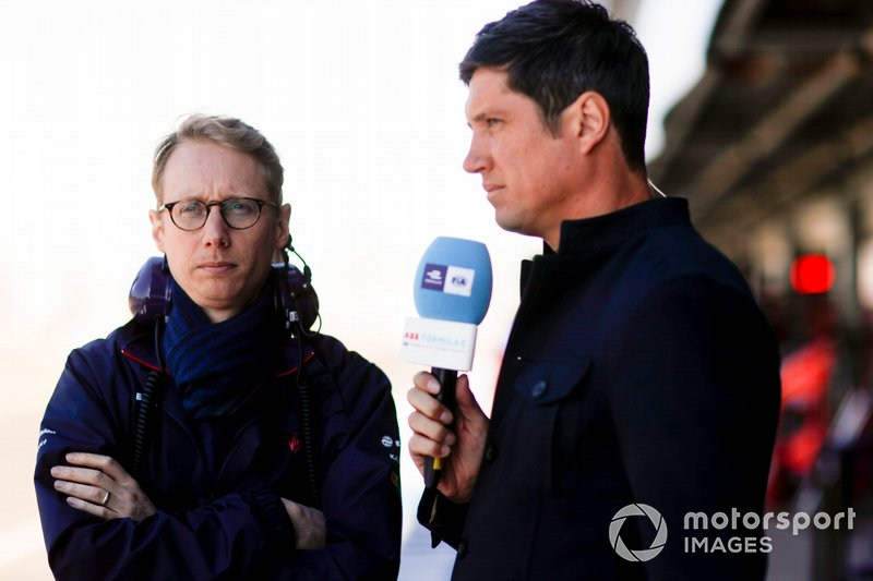 Sylvain Filippi, Managing Director & CTO, Virgin Racing, is interviewed by Vernon Kay