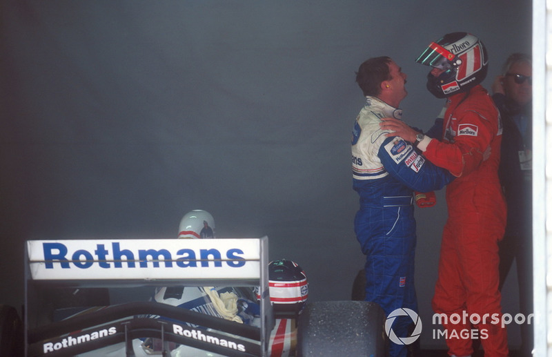 Gerhard Berger, Ferrari ve Nigel Mansell, Williams