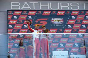 Podium: third place Scott McLaughlin, Alexandre Prémat, DJR Team Penske