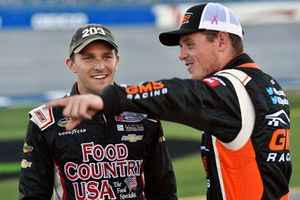 Spencer Gallagher, GMS Racing, Chevrolet Silverado Allegiant and Parker Kligerman, Henderson Motorsports, Chevrolet Silverado Food Country USA