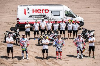 CS Santosh, Joaquim Rodrigues, Oriol Mena, HERO Motorsports Team Rally