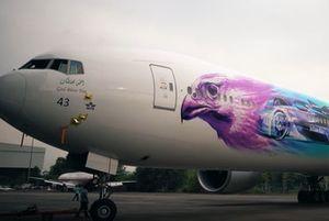 طائرة الخطوط السعوديّة بكسوة الفورمولا إي