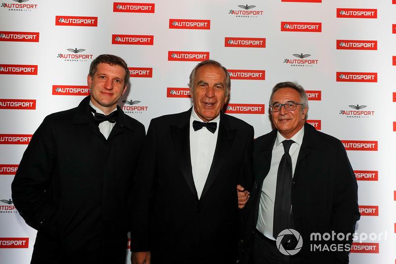 Filippo Salza, Giorgio Piola y Franco Nugnes
