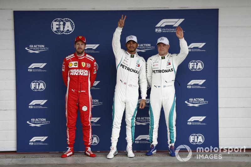 82ª pole position en el GP de Brasil, ya como pentacampeón
