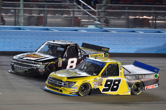Grant Enfinger, ThorSport Racing, Ford F-150 Protect The Harvest/Curb Records and John Hunter Nemechek, NEMCO Motorsports, Chevrolet Silverado Hostetler Ranch / Stonefield Home