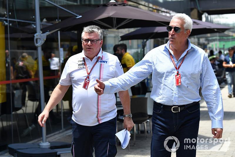 Otmar Szafnauer, Director del equipo Racing Point Force India y Lawrence Stroll, Propietario del equipo Racing Point Force India F1