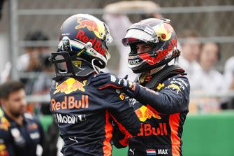 Daniel Ricciardo, Red Bull Racing, en Max Verstappen, Red Bull Racing