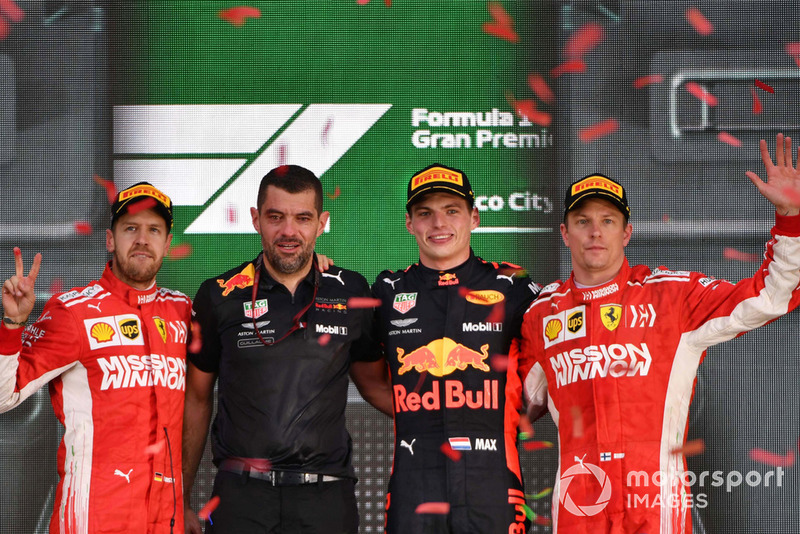 Sebastian Vettel, Ferrari, Guillaume Rocquelin, Red Bull Racing, Max Verstappen, Red Bull Racing, Kimi Raikkonen, Ferrari