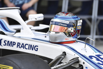 Helmet of Sergey Sirotkin, Williams Racing at the Williams Racing Team Photo