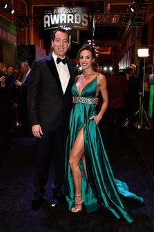 Kyle Busch, Joe Gibbs Racing con la moglie Samantha Busch