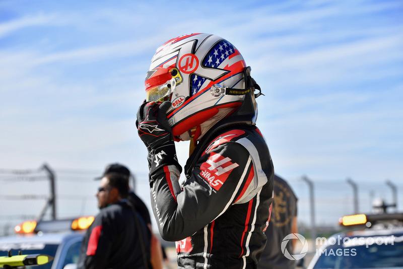 Kevin Magnussen, Haas F1 Team dans le parc fermé