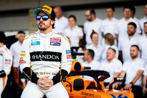 Fernando Alonso en het McLaren team