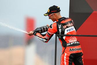 Second place Marco Melandri, Aruba.it Racing-Ducati SBK Team