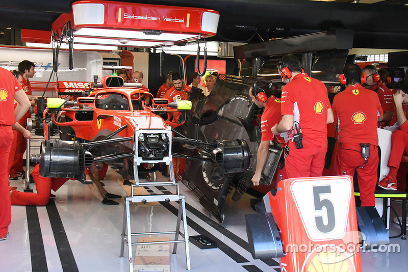 Ferrari team area and technical detail