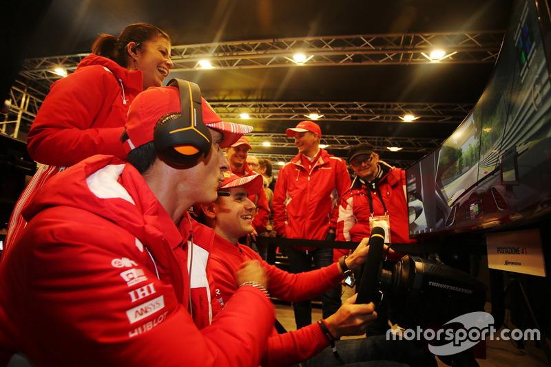Piloti Ferrari Programma Gt: Sam Bird, Davide Rigon, Gian CArlo Fisichella e Andrea Bertolini