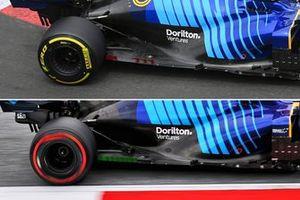 Comparación del suelo del Williams FW43B