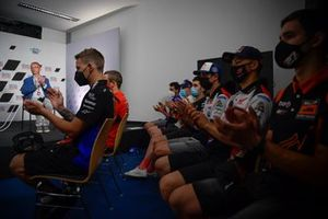 Riders paid their respects to Jason Dupasquier