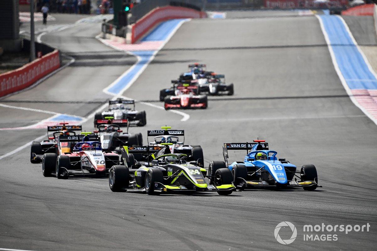Kaylen Frederick, Carlin, Tijmen Van Der Helm, MP Motorsport e Enzo Fittipaldi, Charouz Racing System
