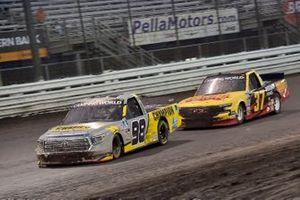 Grant Enfinger, ThorSport Racing, Toyota Tundra Champion / Curb Records and Brett Moffitt, AM Racing, Chevrolet Silverado Concrete Supply/Destiny Homes