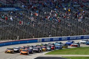 Kyle Busch, Joe Gibbs Racing, Toyota Supra Twix and Daniel Hemric, Joe Gibbs Racing, Toyota Supra Poppy Bank