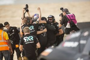 Molly Taylor, Johan Kristoffersson, Rosberg X Racing celebrate