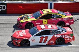 Denny Hamlin, Joe Gibbs Racing, Toyota Camry Sport Clips and Tyler Reddick, Richard Childress Racing, Chevrolet Camaro Quartz Hill Records