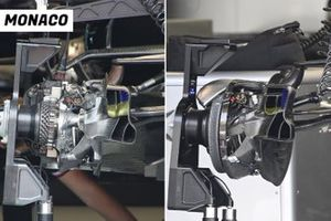 Mercedes W12 front brake duct vergelijking