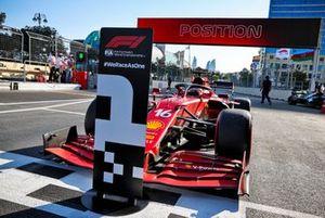 Polesitter Charles Leclerc, Ferrari
