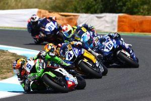 Philipp Öttl, Kawasaki Puccetti Racing, Steven Odendaal, Evan Bros. WorldSSP Team, Jules Cluzel, GMT94 Yamaha