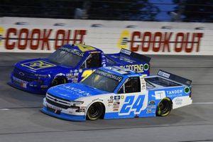 #24: Ryan Reed, GMS Racing, Chevrolet Silverado Tandem Diabetes Care, #25: Timothy Peters, Rackley W.A.R., Chevrolet Silverado Rackley Roofing
