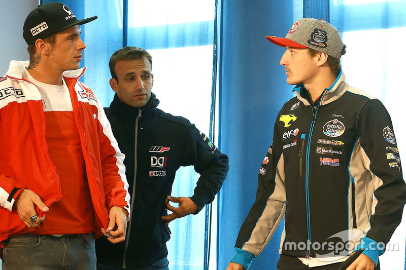 Scott Redding, Pramac Racing, Johann Zarco, Ajo Motorsport et Jack Miller, Marc VDS Racing Honda