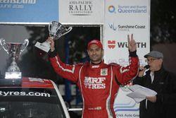 Winner Gaurav Gill, Skoda Fabia R5, Team MRF